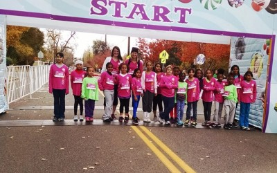 Girls from Kemp Elementary School Run the Great Candy Run
