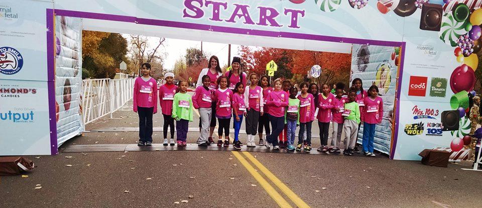 Girls from Kemp Elementary School Run the Great Candy Run