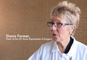 Dr Diana Farmer of UC Davis Health in a video explaining the benefits and future of stem cells in fetal surgery for spina bifida.