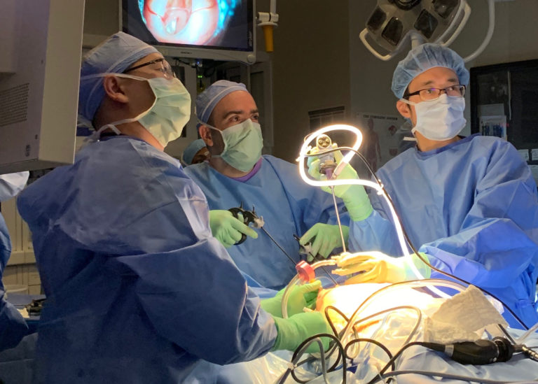 Dr. Chmait Performs Minimally-Invasive Fetoscopic Surgery for Spina Bifida
