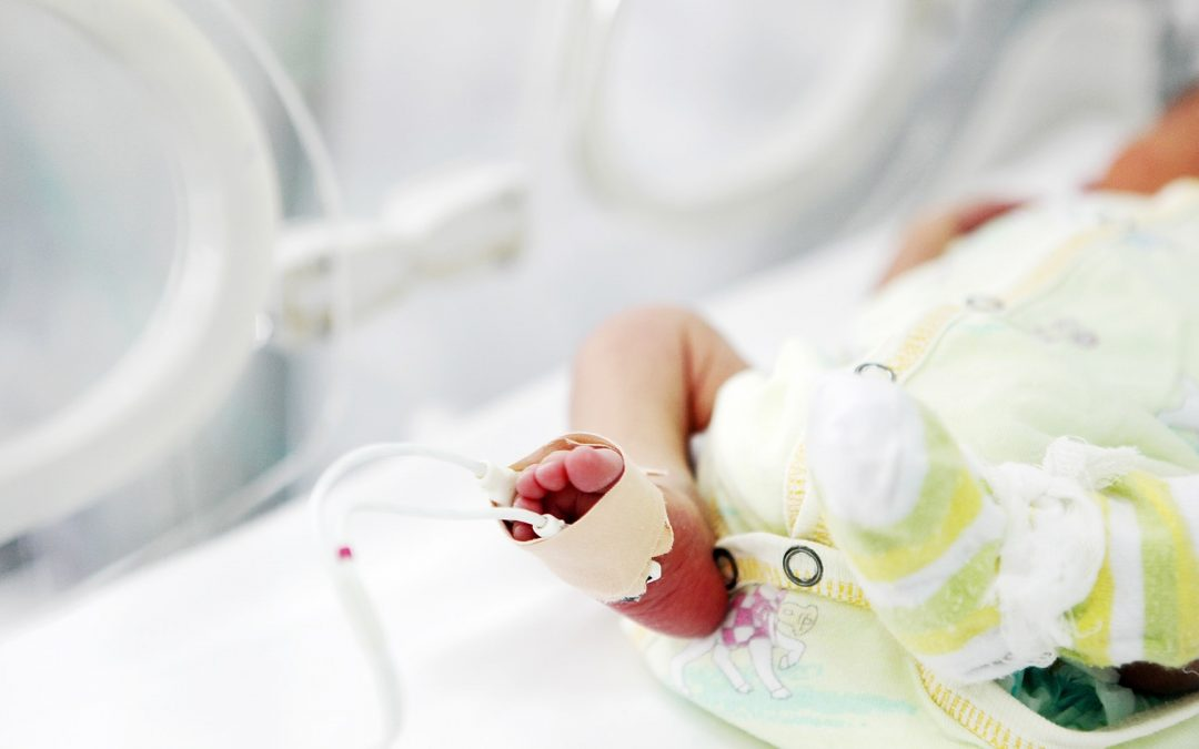 Image of a baby foot for an article on PTSD and NICU parents